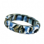 Tread Bangle (child) - 'Camo' (blue/black camouflage) - Chewigem